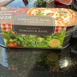 Complete Tomato & Basil grow kit.